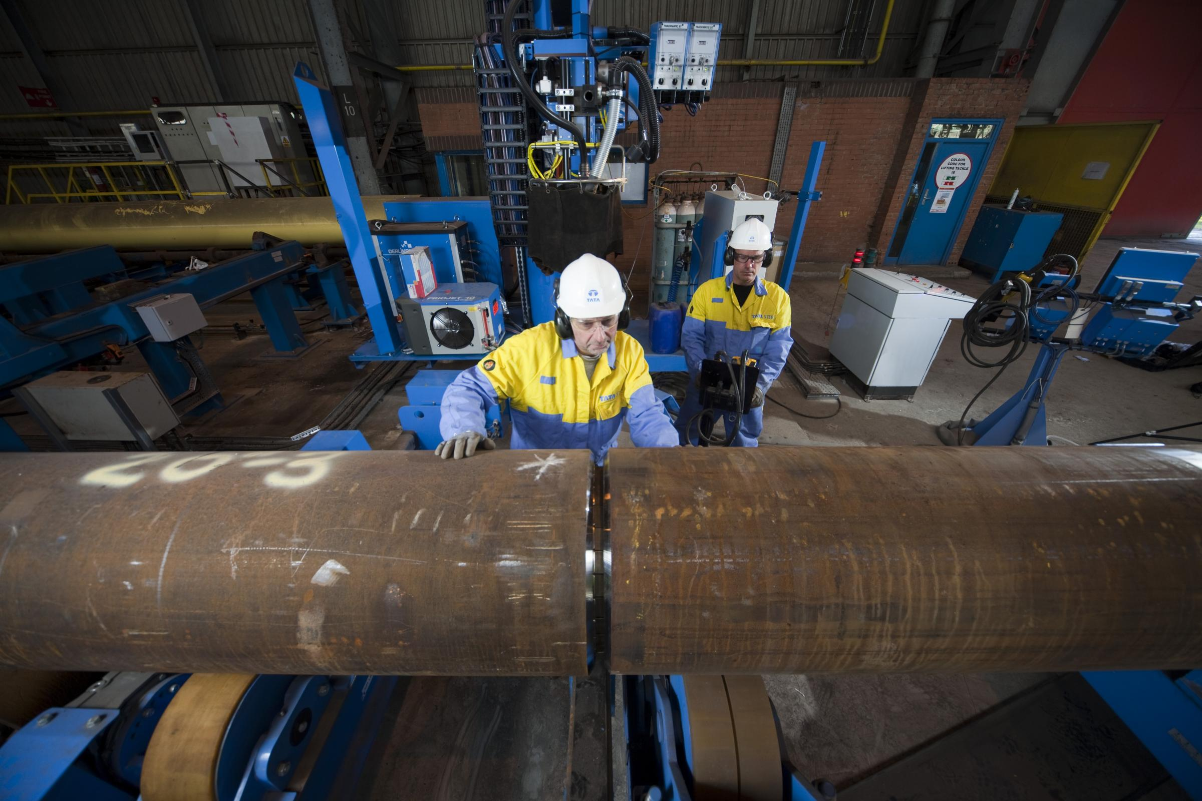 Tata Steel's Hartlepool pipe mill. Tata's European operations chairman, Dr Karl-Ulrich Koehler, wants the Government to champion the UK's foundation industries to galvanise the UK economy outside the South-East