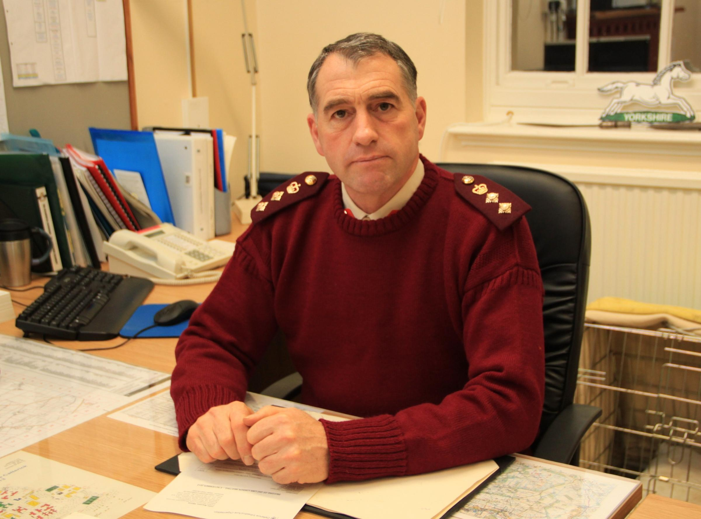 DETERMINED: Interim executive board member and commander of Catterick Garrison Colonel Stephen Padgett