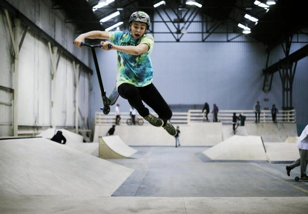 Ned Butterfield, 13, at the new skate park in Faverdale, Darlington