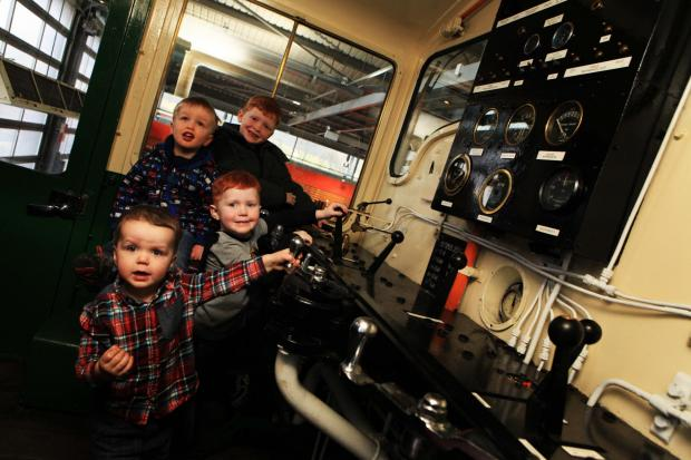 Locomotion held a Cab It! event this weekend where the public could access the footplates of diesel engines and snow ploughs. Pictured (front to back) are Alex Gardner, two, Luke Gardner, four, Harry Jennis, three, and Freddie Gardner, five.