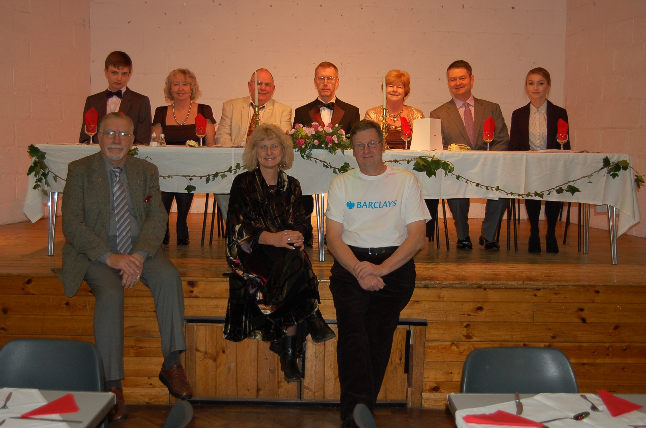 Murder mystery organisers and volunteers