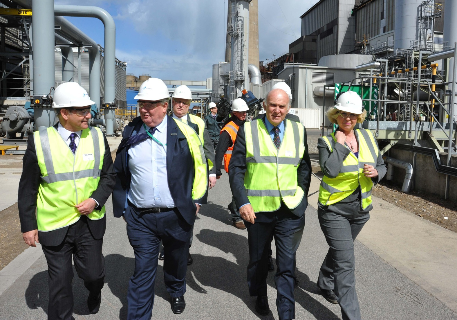 George Ritchie, Sembcorp senior vice-president HR, second left next to Business Secretary Dr Vince Cable, has called on more firms to look at apprenticeships