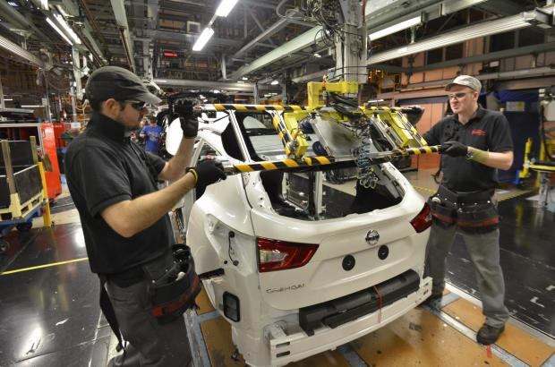 Nissan's workforce has grown above 7,000 for the first time in the plant's 28-year history