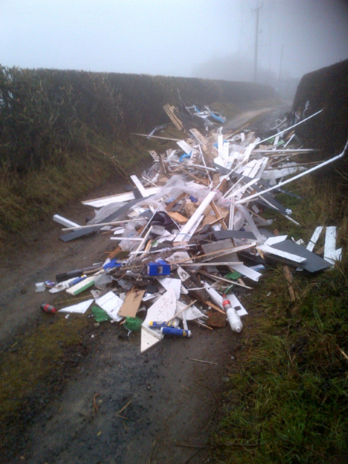 UGLY MESS: Waste roofing materials dumped in Patches Lane, Darlington