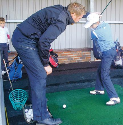 TOP TIPS: A coaching class in progress at the Durham Golf Partnership County Academy, who help young players fulfil their potential