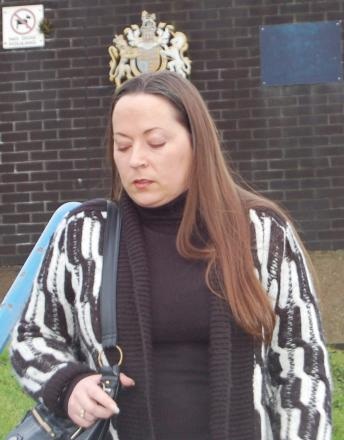 Louise Nelson seen leaving court after earlier appearance over fraud offences from Durham estate agents