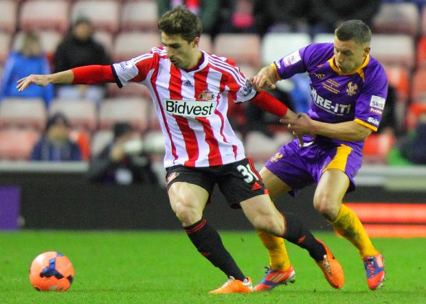 OPTIMISTIC: Fabio Borini is hoping a win over Everton tomorrow could spark Sunderland into life - just as it did in December