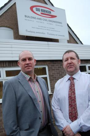 Steve Bell, left, and Dave Cutler, who have joined Gus Robinson Developments