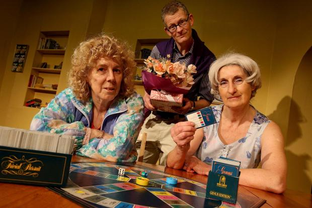 Cast members Lesley Anderson (left), Neil Gander and Janiece Spence (right) from the Durham Dramatic Society take center stage in their latest production The Odd Couple at the City Theatre in Durham
