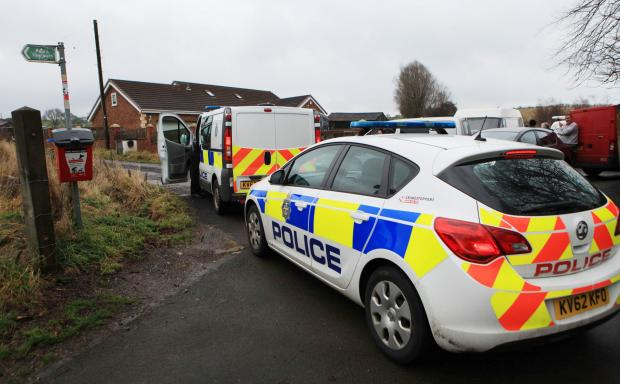 Police previously in attendance at the Rainbow Ark animal sanctuary in Willington