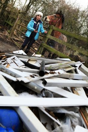 Lyn Hawksby from Sedgefield was the victim of fly tipping last year but Durham County Council refused to take it away as it was on private land. She tried to take it to the tip but they refused to take it