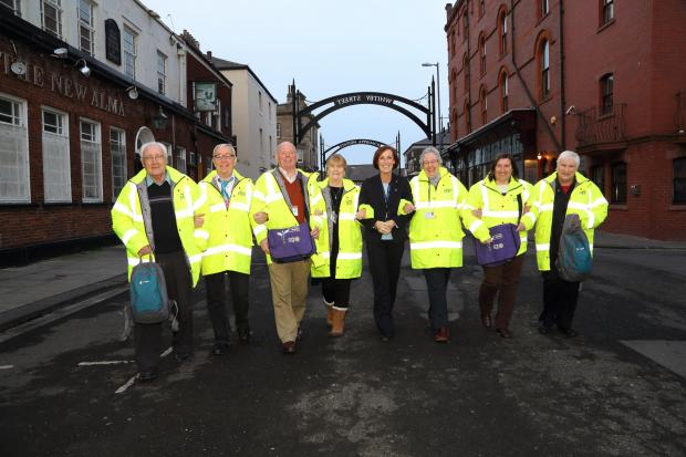 Hartlepool Street Pastors out on the beat, with Jo Larkin of Housing Hartlepool (centre).