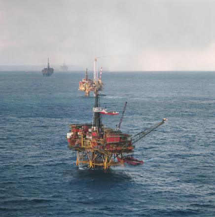 Offshore platforms in the Brent Field