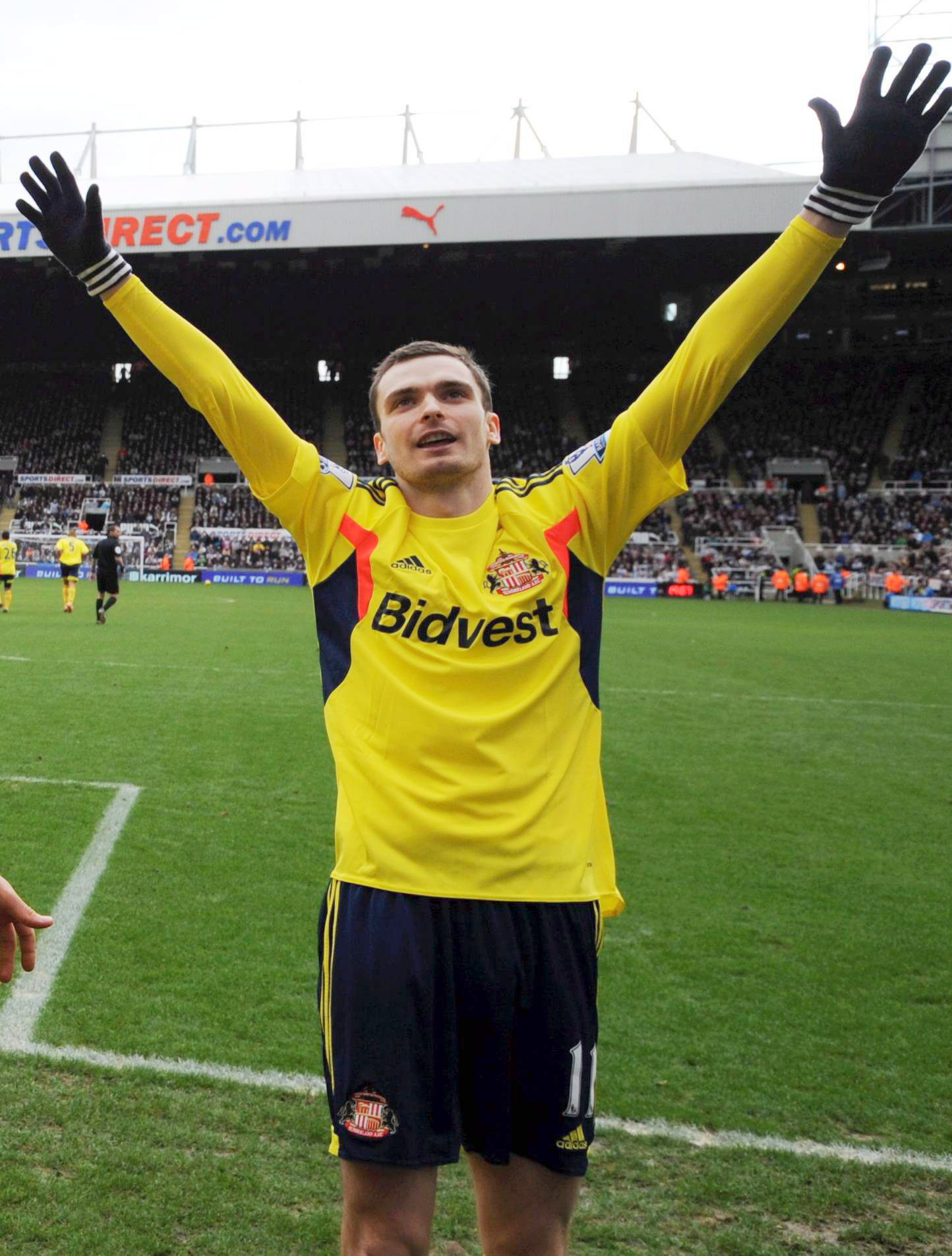 Confident: Adam Johnson thinks Sunderland are well placed to stay up
