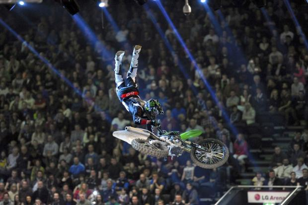 Freestyle action from the Garmin Arenacross Tour