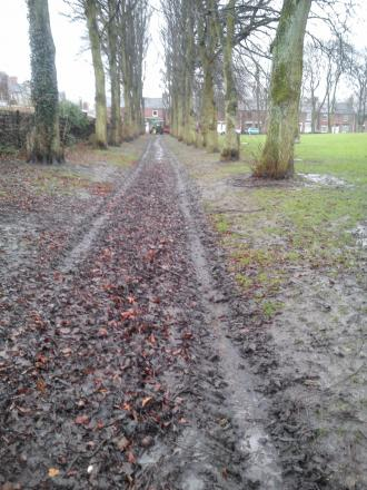Complaints have been raised about Shildon Town Council vehicles leaving muddy tracks across a cemetery