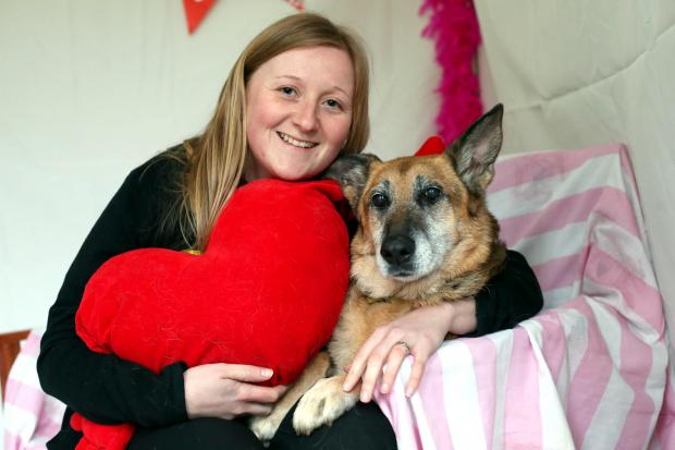 HUMAN COMPANY: German Shepherd Jade with Rebecca McKeown from the trust