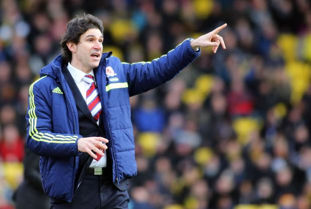 SHOT SHY: Aitor Karanka has instructed his players to practice their shooting after going more than 700 minutes without a goal
