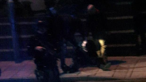 Armed police arrests in Yarm Road tonight