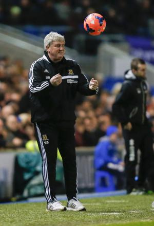 REPLAY REQUIRED: Hull City manager Steve Bruce on the sidelines during last night's FA Cup fifth round draw at Brighton