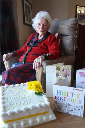 GLAD TIDINGS: Irene 'Bunny' Gray celebrates her 103rd birthday