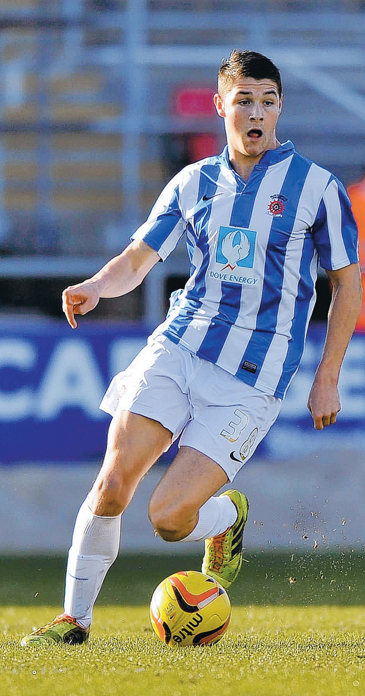 WONDER STRIKE: Midfielder Bradley Walker last night scored a fine goal for Pools
