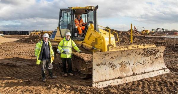 Paul Bullimore, senior project manager, left, with Steve Waggett, Clugston's North-East regional manager, on the site of the new development