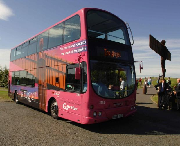 Go-Ahead's Angel service. The firm is targeting £100m bus profits after posting strong financial results