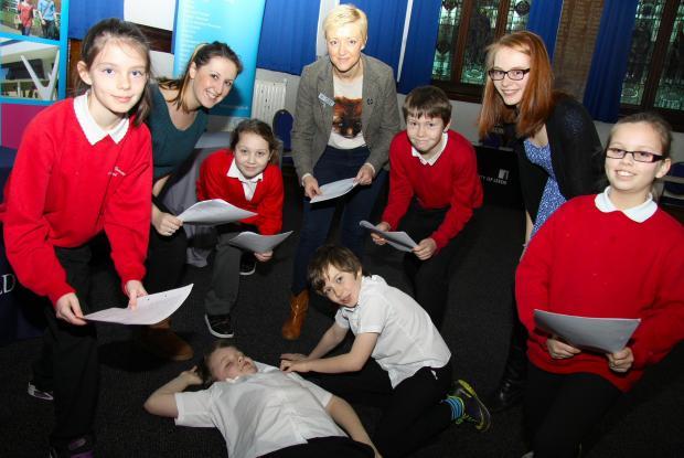 THEY'RE BARD: Year 6 students from Mount Pleasant School, Darlington