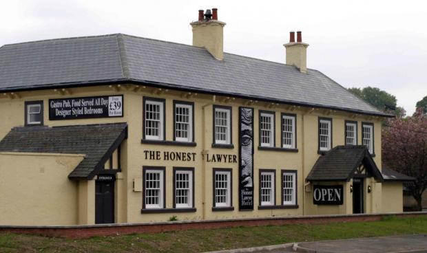 The Honest Lawyer hotel, near where the new roundabout will be