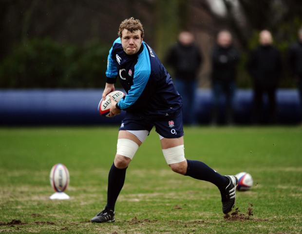 GIVING HIS ALL: England's Joe Launchbury insists there's no room for slacking in this set-up