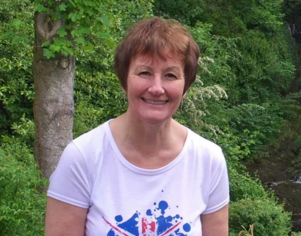 CHARITY WALK: Shorthand tutor Dawn Johnston