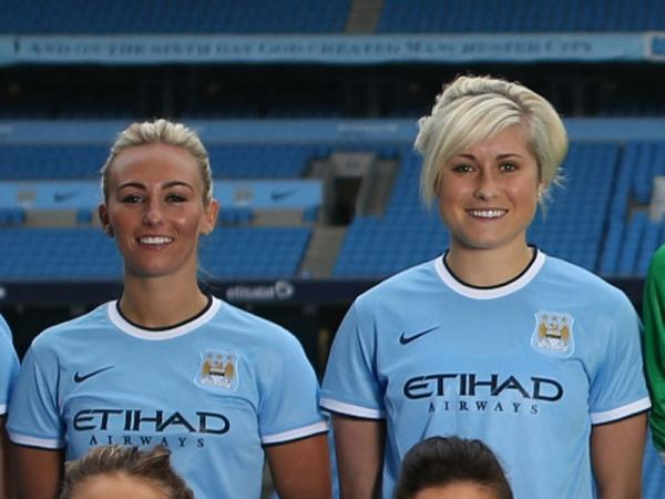 SUNDERLAND FAN: Steph Houghton (right) might play for Manchester City's Women's team, but she will be supporting Sunderland this weekend