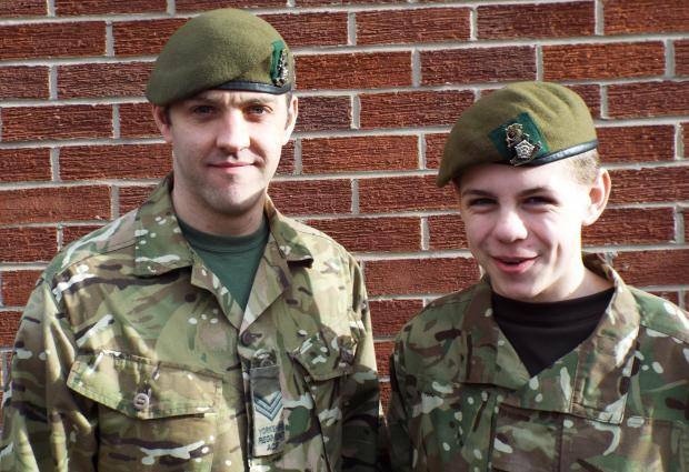 APPEAL: Army Cadet Force volunteer Matthew Guy and cadet Euan French, of the Stokesley detachment.