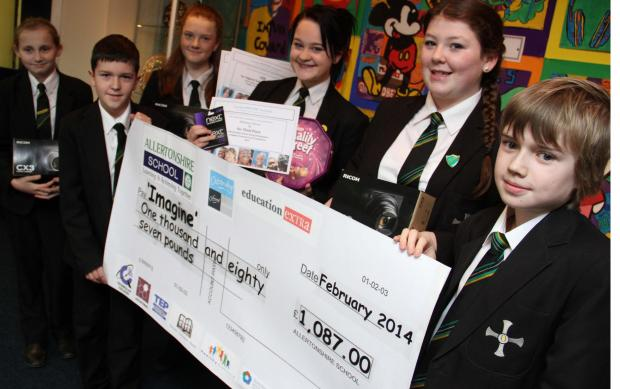 Top class fundraisers: Allertonshire School students, L-R, Beth Wakeling, 14, Jess Ayre, 13, Harry Thompson, 11, Beth Horner, 13, Grace Cook, 13 and Joe Riordan, 11