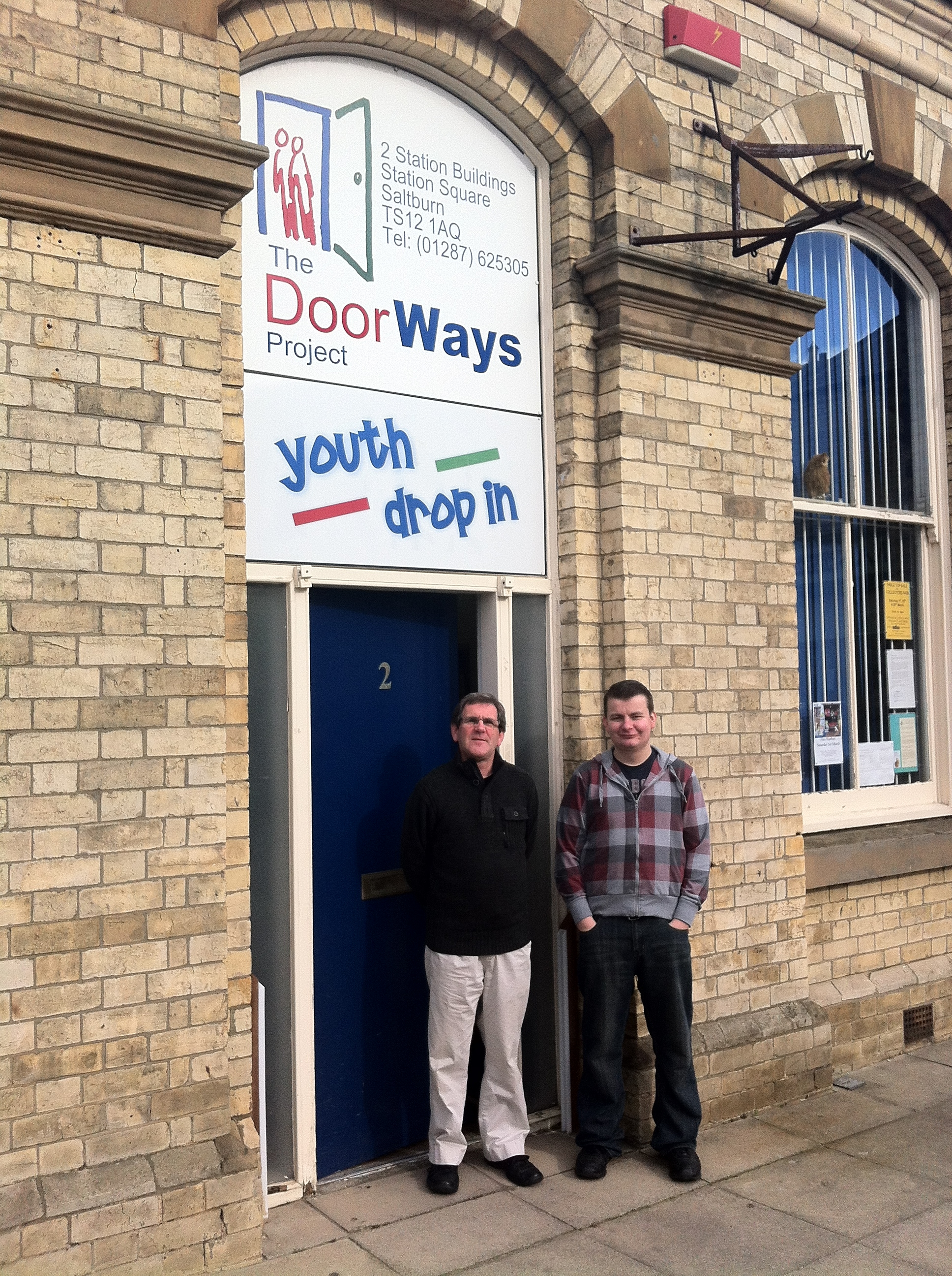 (L-R) DoorWays project co-ordinator, John Pearson and youth support worker, John Thompson, who is losing his job due to funding cuts
