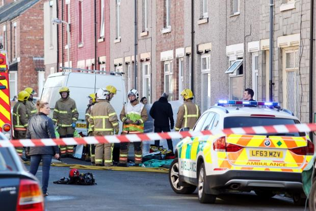 The Northern Echo: Emergency services at the scene. Pic: Chris Booth