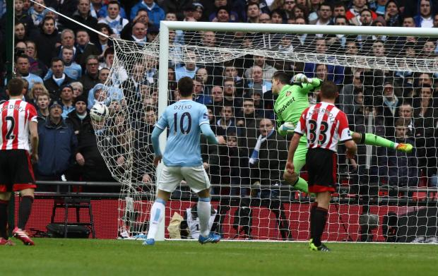 EQUALISER: Yaya Toure's stunning second half strike to draw the game level. Picture: Tom Banks