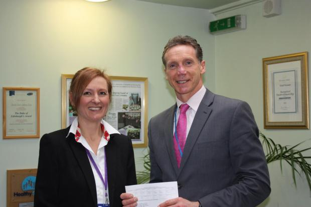 Pictured (L-R):  Saltburn School's deputy head teacher Alyson Carr with head teacher Andrew Flint