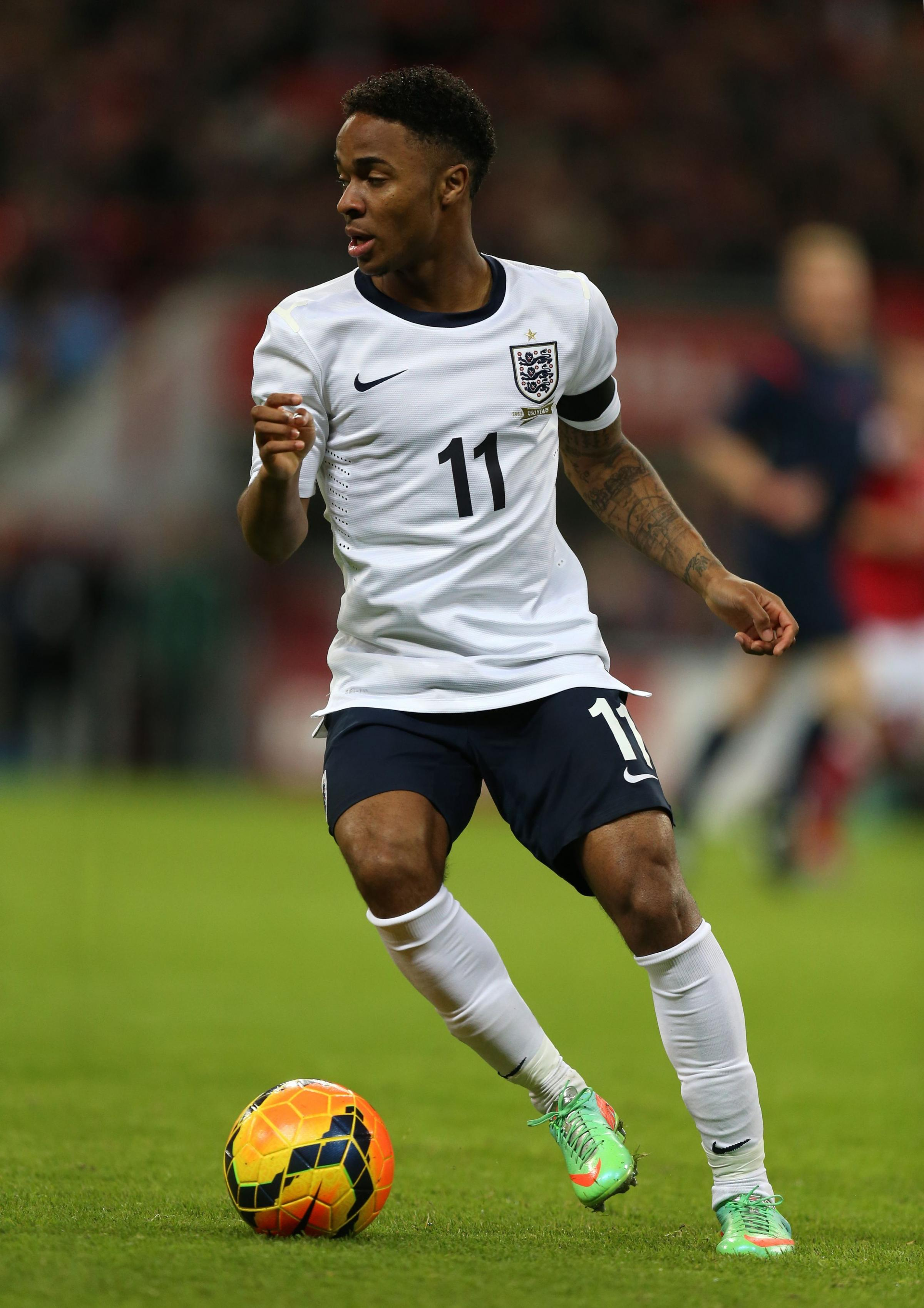 MAN OF THE MATCH: Raheem Sterling impressed for England on Wednesday