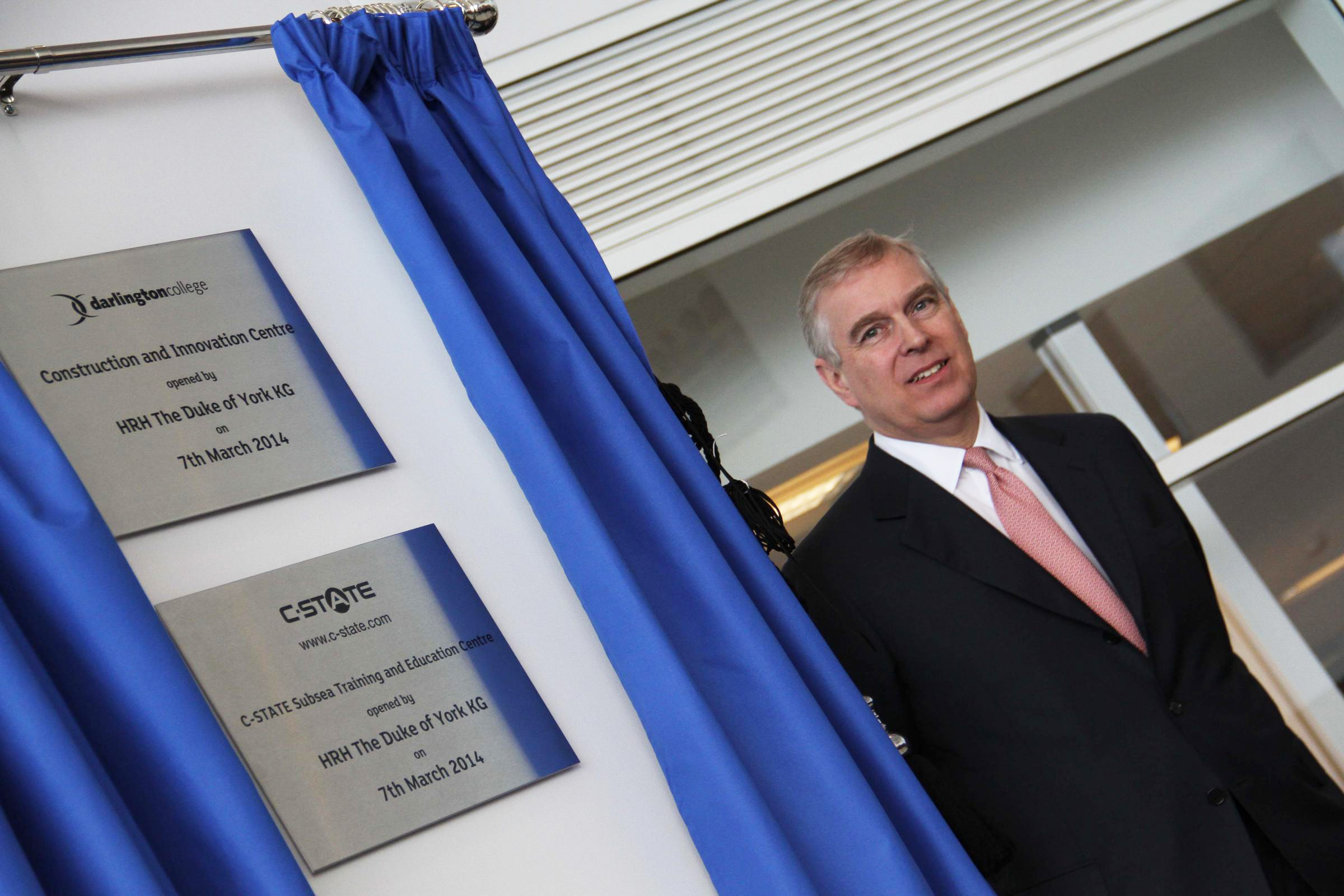 Prince Andrew officially opens the Construction and Innovation Centre and the C-STATE Subsea Training and Education Centre at Darlington College