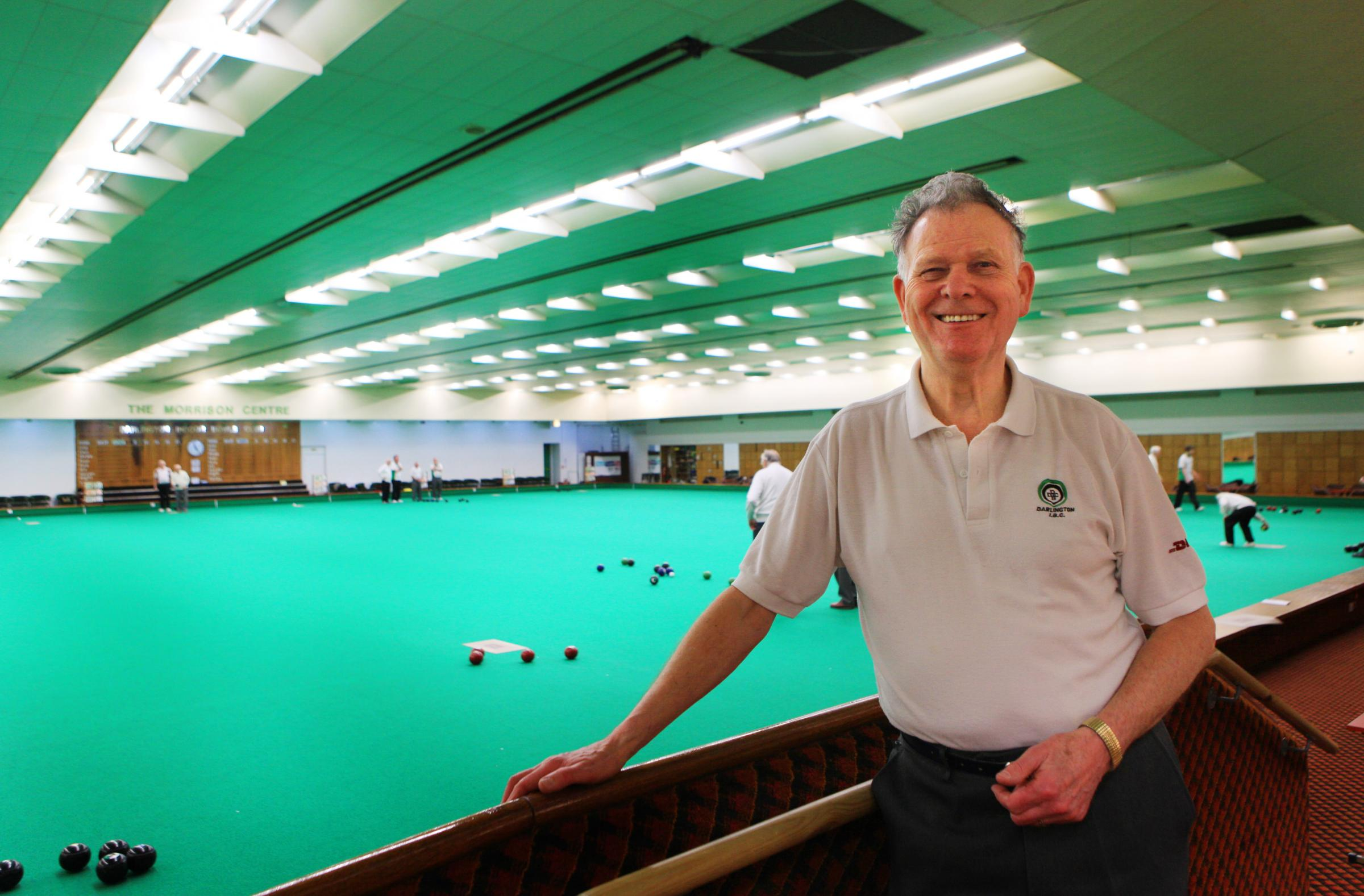 FINALS JOY: Graham Peacock, of Darlington Indoor Bowls Club, which has been chosen to host a national finals
