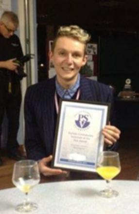 Volunteer of the Year award winner Adam Peacock