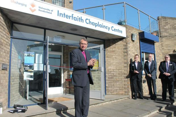 The Bishop of Durham opens Sunderland University's new Interfaith Chaplaincy Centre