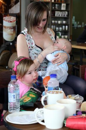 PROUD MUM: Tasha McNeil with children Hallie and Logan Burney