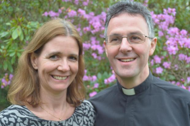 NEW ROLE: Canon John Dobson, pictured with his wife Nicola