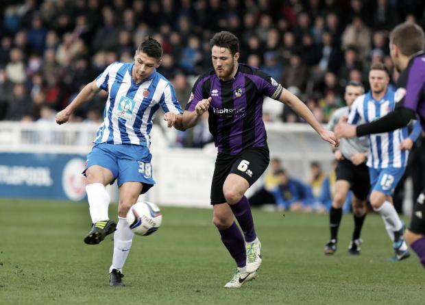 ON TARGET: Bradley Walker scores Pools second goal, his third of the season