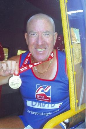 David Cranson, 59, is taking part in the Brighton Marathon as a thank-you to Blind Veterans UK