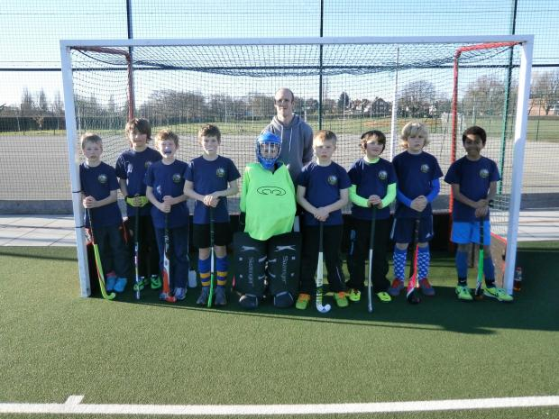 ON THE BALL: Richmond Church of England Primary School hockey team