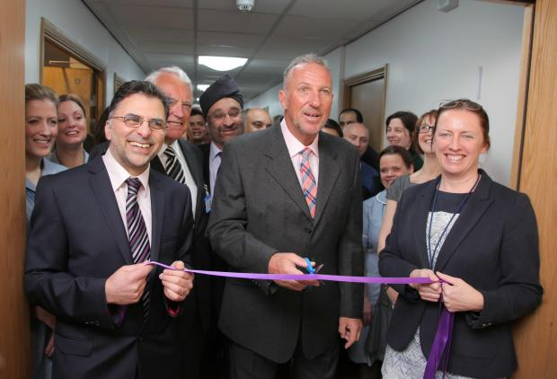 The Northern Echo: Cricket legend Ian Botham opens Darlington Memorial Hospital's first clinical research unit